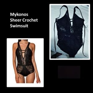 Mykonos sheer crochet Swimsuit